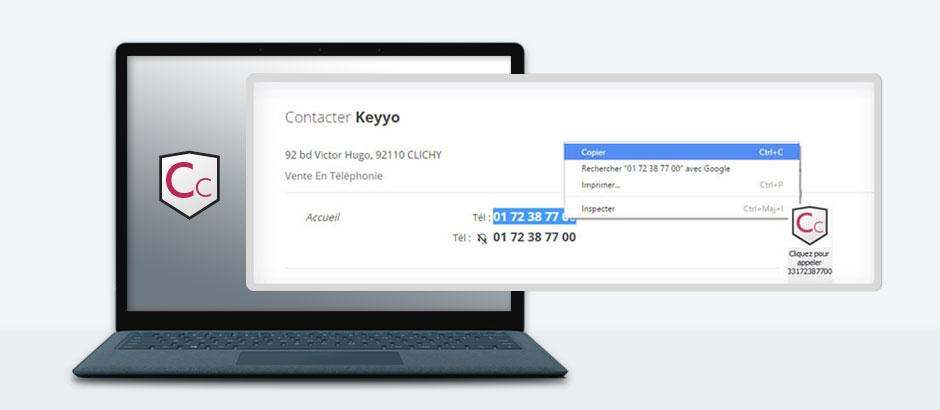 Capture d'écran de l'application Copy & Call