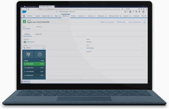 Capture d'écran de l'application Keyyo Unify