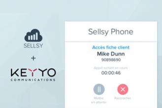 Keyyo connecte sa solution de téléphonie au logiciel de l'éditeur Sellsy